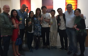 Brian Wallace (red gate gallery), Nikolaus, curator, artists from Hegezhuang 318 art village, chef, Geoff Raby, Ning copy