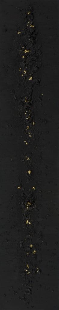 111 inkblack coal 24 carat gold leaf linen