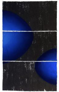 2 numinous - 3 triptych, ink, pigment, mulberry paper,235x145cm, 2017 copy