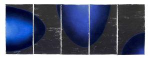 3 numinous - 5 panel, ink, pigment, mulberry paper, 145x395cm,2017 copy